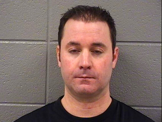 This 2014 booking photo provided by the Cook County Sheriff's Office, in Chicago, shows Louis Capriotti. Prosecutors say Capriotti has been arrested on a federal charge that he threatened to take the lives of President-elect Joseph Biden and other Democrats at the upcoming inauguration in Washington. (Cook County Sheriff's Office via AP)