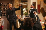 CORRECTS CHARACTER NAME FROM MORGAN TO WINTERS - This image released by CBS shows Shemar Moore portraying Malcolm Winters, left, in a scene honoring the character Neil Winters, portrayed by the late actor Kristoff St. John, in the daytime series