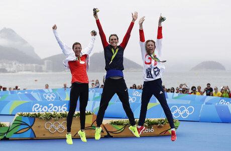 Gwen Jorgensen, Nicola Spirig Hug, Vicky Holland