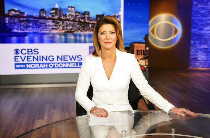 This image released by CBS shows Norah O'Donnell, host of the new