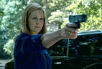This image released by Netflix shows Laura Linney in a scene from