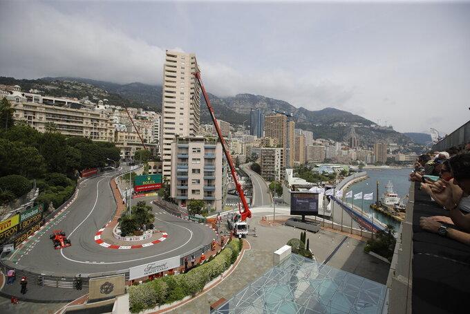 Leclerc tops 3rd practice in Monaco, teammate Vettel crashes