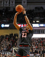 Texas Tech's Jarrett Culver (23) shoots the ball during the second half of an NCAA college basketball game against Texas, Monday, March 4, 2019, in Lubbock, Texas. (AP Photo/Brad Tollefson)