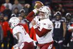 Temple quarterback Anthony Russo (15) passes during the first half of an NCAA college football game against Cincinnati, Saturday, Nov. 23, 2019, in Cincinnati. (AP Photo/John Minchillo)