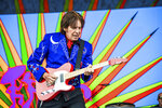 FILE -  John Fogerty performs at the New Orleans Jazz and Heritage Festival in New Orleans on May 5, 2019. Fogerty is among several musicians who are objecting to their songs being used at President Donald Trump's campaign rallies.  (Photo by Amy Harris/Invision/AP, File)