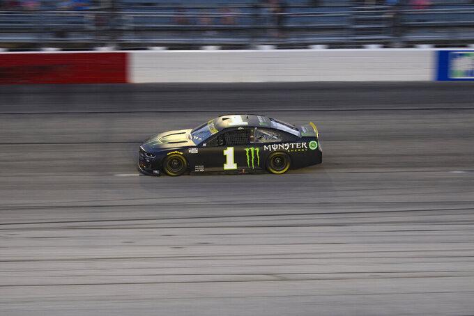 Kurt Busch races in a NASCAR Cup Series auto race Sunday, Sept. 5, 2021, in Darlington, S.C. (AP Photo/John Amis)