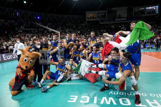 APTOPIX Poland Italy Slovenia Euro Volleyball