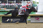 IMAGE DISTRIBUTED FOR LONGINES - Serengeti Empress, ridden by Jose Ortiz, wins the 145th running of the Longines Kentucky Oaks, Friday, May 3, 2019 at Churchill Downs in Louisville, Ky. Longines, the Swiss watch manufacturer known for its luxury timepieces, is the Official Watch and Timekeeper of the 145th annual Kentucky Derby. (Diane Bondareff/AP Images for Longines)