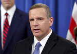 """FILE - In this Monday, June 7, 2021, file photo, FBI Deputy Director Paul Abbate speaks at a news conference at the Justice Department in Washington. Abbate says the FBI is sending its strongest message ever that employees who engage in sexual misconduct should be scared because """"we're coming for them."""" (Jonathan Ernst/Pool Photo via AP, File)"""