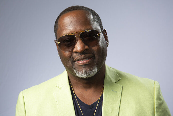 """This Aug. 27, 2019 photo shows portrait shows  R&B singer Johnny Gill posing for a portrait in Los Angeles to promote his eighth studio album """"Game Changer II."""