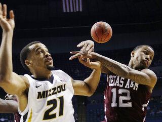 SEC Texas A M Missouri Basketball