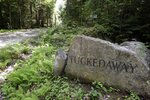 A boulder inscribed with