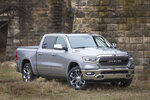 This undated photo provided by Ram shows the Ram 1500, a full-size pickup that's capable for hauling or towing. It can also be loaded up with the latest technology features. (FCA US via AP)