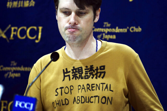 "Tokyo-based Australian journalist Scott McIntyre speaks during a press conference at Foreign Correspondent's Club Japan in Tokyo Thursday, Jan. 16, 2020. McIntyre said he is a victim of ""inhumane"