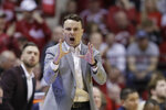 Indiana head coach Archie Miller shouts during the second half of an NCAA college basketball game against Maryland, Sunday, Jan. 26, 2020, in Bloomington, Ind. (AP Photo/Darron Cummings)