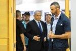 Israeli Prime Minister Benjamin Netanyahu arrives to speak to the Israeli Parliament in Jerusalem, Sunday, May 30, 2021. (Yonatan Sindel/Pool via AP)