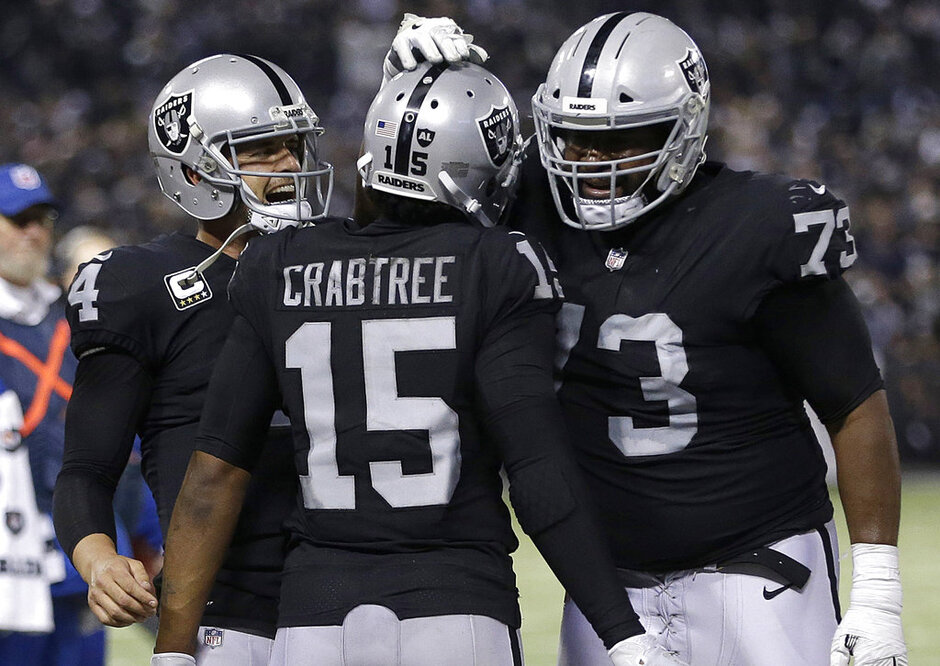 Michael Crabtree, Derek Carr, Marshall Newhouse
