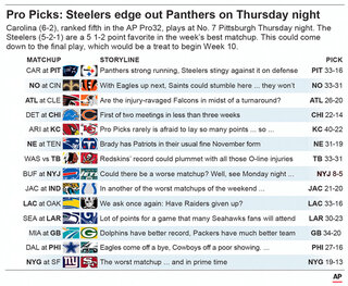 NFL PICKS WK 10