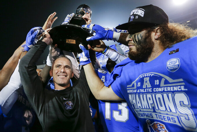 Norvell says he won't coach No. 15 Memphis in Cotton Bowl