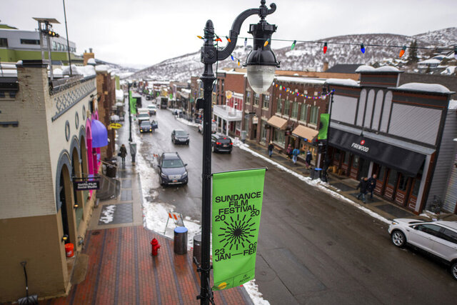 Main Street of Park City is seen on opening day of the 2020 Sundance Film Festival, on Thursday, Jan. 23, 2020, in Park City, Utah. (Photo by Charles Sykes/Invision/AP)