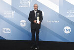 Robert De Niro poses in the press room with the lifetime achievement award at the 26th annual Screen Actors Guild Awards at the Shrine Auditorium & Expo Hall on Sunday, Jan. 19, 2020, in Los Angeles. (Photo by Jordan Strauss/Invision/AP)