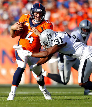 APTOPIX Raiders Broncos Football