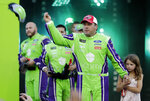 Ryan Newman is introduced before the NASCAR All-Star Race at Charlotte Motor Speedway in Concord, N.C., Saturday, May 18, 2019. (AP Photo/Chuck Burton)