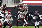 Houston Texans strong safety Justin Reid (20) breaks up a pass intended for New England Patriots wide receiver Jakobi Meyers (16) during the second half of an NFL football game, Sunday, Nov. 22, 2020, in Houston. (AP Photo/David J. Phillip)