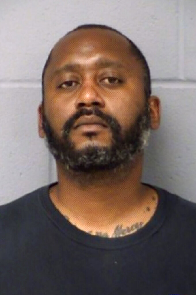 FILE - This file photo provided by the Austin Police Department shows Stephen Broderick, 41. Broderick was arrested Monday, April 19, 2021, in Manor, Texas, a suburb of Austin, in connection with the fatal shooting of three people in Austin on Sunday. (Austin Police Department via AP, File)