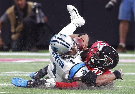 APTOPIX Panthers Falcons Football