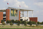 Baylor University's McLane Stadium is shown Friday, Sept. 18, 2020, in Waco, Texas.  Baylor's season opener against Houston, scheduled less than a week ago, was one of two FBS NCAA college football games postponed Friday, Sept. 18, 2020, the day before before they were supposed play.  (Rod Aydelotte/Waco Tribune-Herald via AP)