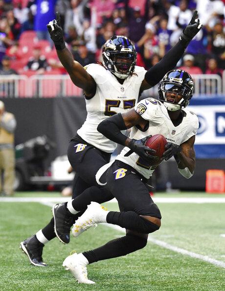 APTOPIX Ravens Falcons Football