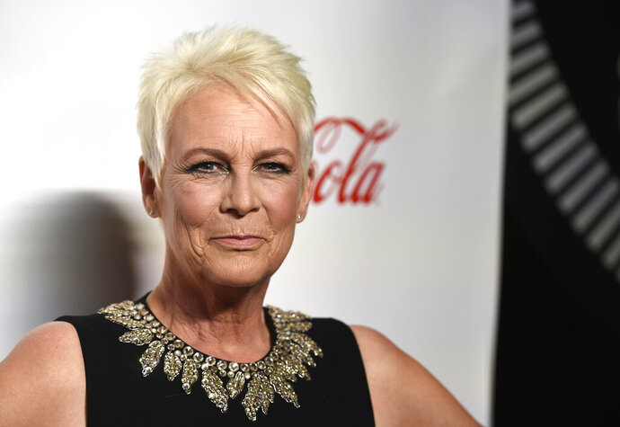 """FILE - In this April 4, 2019 file photo, Jamie Lee Curtis, recipient of the CinemaCon vanguard award, poses at the Big Screen Achievement Awards at Caesars Palace in Las Vegas.  Universal says it will release two new """"Halloween"""" films, including one with the ominous title """"Halloween Ends."""" The studio said Friday, July 19 that the first of the films, """"Halloween Kills,"""" will be released in 2020 and the second film will come in 2021. A teaser video includes the voice of Jamie Lee Curtis, who starred in the original 1978 film and last year's blockbuster sequel, """"Halloween.""""  (Photo by Chris Pizzello/Invision/AP, File)"""