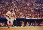 FILE - In this Aug. 2, 1978 file photo, Cincinnati Reds Pete Rose at bat against the Atlanta Braves in Atlanta.  Rose says cheating on the field is bad for the game, and the one thing he never did with his bets is change the outcome of a game.  (AP Photo, File)