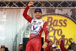 Kyle Larson celebrates in victory lane after winning a NASCAR Cup Series auto race at Bristol Motor Speedway Saturday, Sept. 18, 2021, in Bristol, Tenn. (AP Photo/Mark Humphrey)