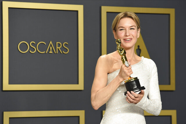 FILE - Renee Zellweger, winner of the award for best performance by an actress in a leading role for