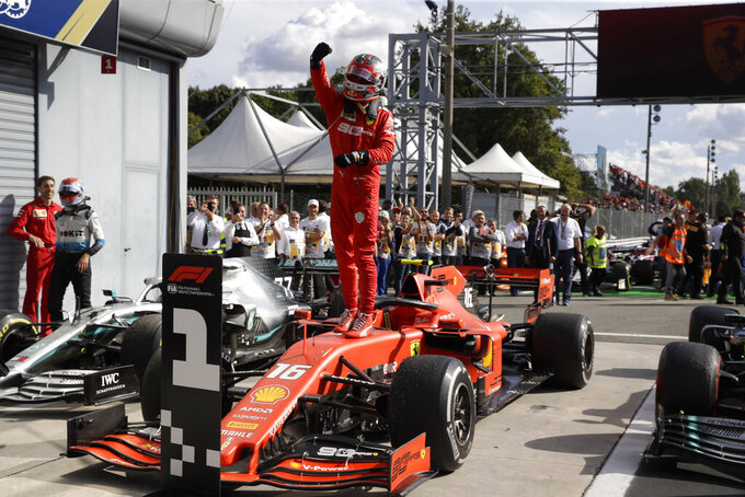 Leclerc ends Ferrari's 9-year wait for Italian GP win