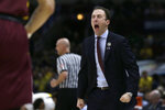 Minnesota head coach Richard Pitino yells during the first half of an NCAA college basketball game against Michigan in the semifinals of the Big Ten Conference tournament, Saturday, March 16, 2019, in Chicago. (AP Photo/Kiichiro Sato)