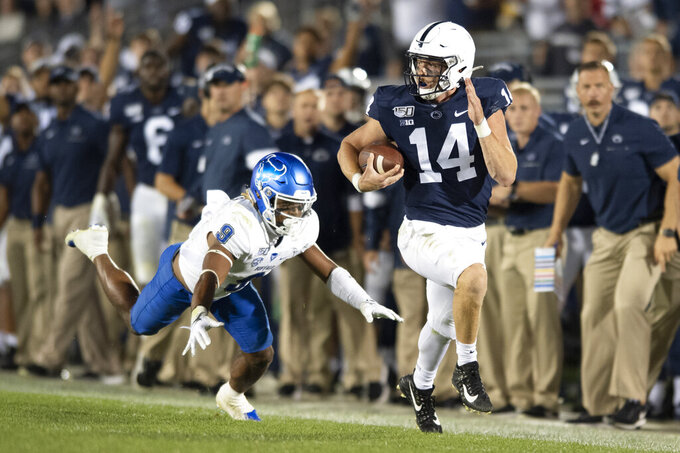 Clifford's 4 TDs lead No. 15 Penn State over Buffalo 45-13