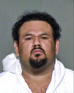 FILE - This undated file photo provided by the Maricopa County (Arizona) Sheriff's Office shows Apolinar Altamirano, an immigrant from Mexico charged with murder in a 2015 shooting death of a convenience store clerk in a Phoenix suburb. Prosecutors have lost another bid to seek the death penalty against Altamirano. (Maricopa County Sheriff's Office via AP, File)