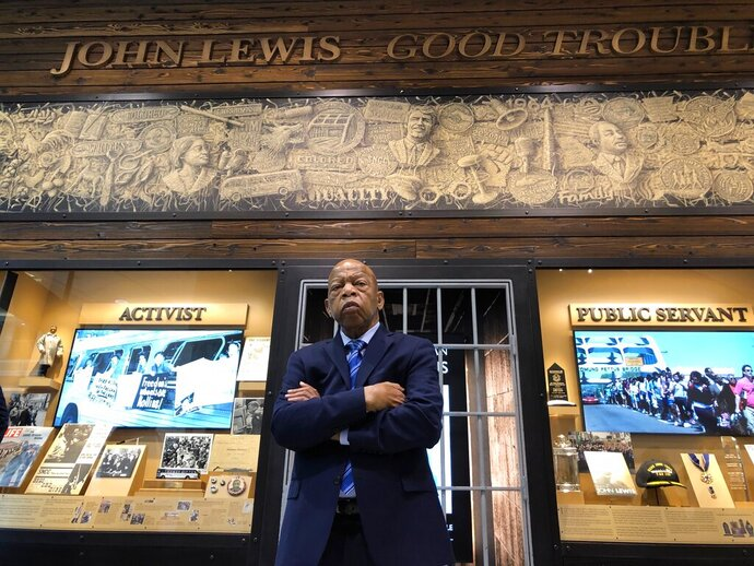 This image released by Magnolia Pictures shows Rep. John Lewis in a scene from