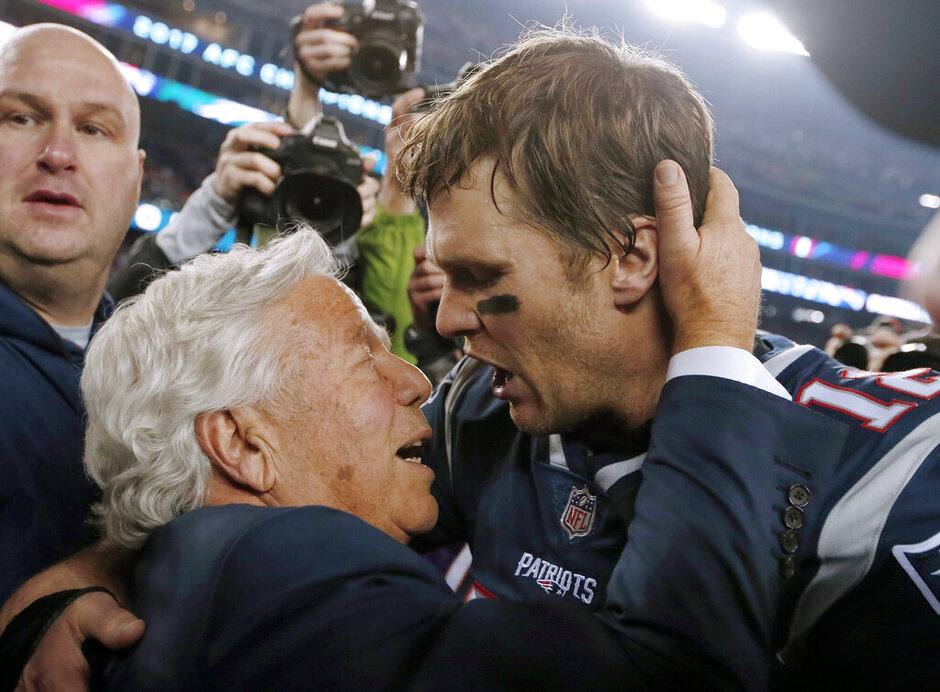 Robert Kraft, Tom Brady