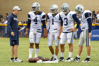 Cowboys Players to Coach Football