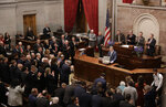 Tennessee Gov. Bill Lee delivers his first State of the State Address Monday, March 4, 2019, in Nashville, Tenn. (AP Photo/Mark Humphrey)