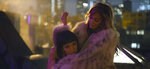 This image released by STXfilms shows Constance Wu, left, and Jennifer Lopez in a scene from