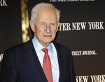 FILE - In this April 26, 2010 file photo, former New York City District Attorney Robert Morgenthau attends a gala launch party in New York. Morgenthau, the longest-serving former Manhattan district attorney who tried mob kingpins, music stars and white-collar criminals and inspired a character on 'Law & Order' has died. He was 99. His wife, Lucinda Franks, told The New York Times that Morgenthau died Sunday, July 21, 2019, at a Manhattan hospital after a short illness.  (AP Photo/Stephen Chernin, File)