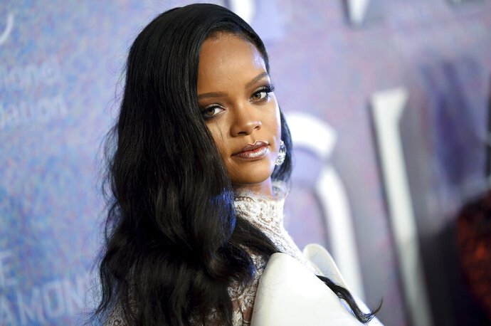 FILE - In this Sept. 13, 2018 file photo, singer Rihanna attends the 4th annual Diamond Ball in New York. A man who authorities say broke into Rihanna's Hollywood Hills home and spent 12 hours there when she was not home has pleaded no contest to stalking the singer. Los Angeles County prosecutors said Thursday that 27-year-old Eduardo Leon of Fullerton entered the plea to felony counts of stalking and vandalism and a misdemeanor count of resisting arrest. He was immediately sentenced to five years' probation and 90 days of GPS monitoring. (Photo by Evan Agostini/Invision/AP, File)