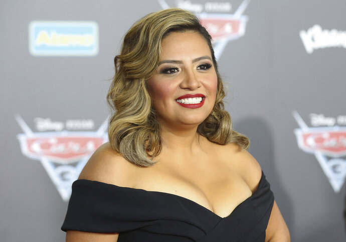 FILE - This June 10, 2017 file photo shows Cristela Alonzo at the LA Premiere of