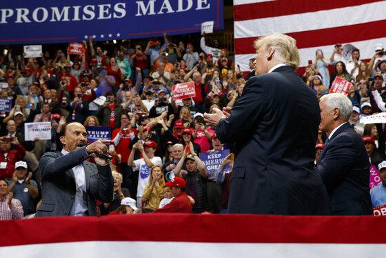 Donald Trump, Lee Greenwood, Mike Pence