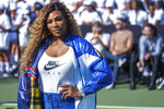 Serena Williams attends the Nike